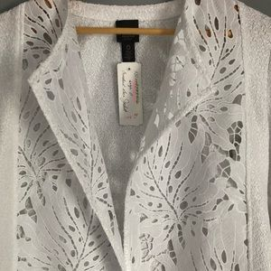 Chico's Jackets & Coats - NWT Chico's Traveler's Collection Crochet Jacket 0